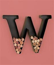 METAL MONOGRAM LETTER-SHAPED INITIAL WINE CORK HOLDER WALL ART LETTERS A,B,C,M,W