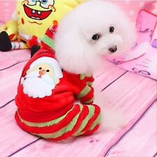 Santa Claus Christmas Coat Apparel Hoodie Jumpsuit Pet Dog Clothes Costumes Gift