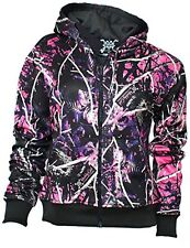 MUDDY GIRL CAMO HOODIE ZIPPER JACKET LONG SLEEVE NWT