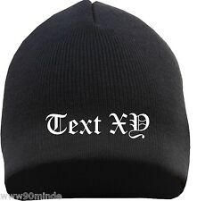 Beanie With Your Desired Text Embroidered ++ Old German ++ Ultras Acab Fans Hat