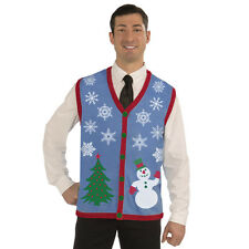 Snowflake Ugly Christmas Sweater Vest Tacky Holiday Jumper Party Sweatshirt New