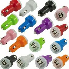Dual Port USB Car Charger Adapter 1A - 2.1A for Apple iPad and Android Tablet