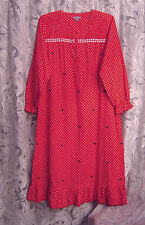 SCOTTIE DOG LONG SOFT SMOCK 100% COTTON FLANNEL RUFFLE NIGHTGOWN GOWN~SMALL~NEW