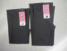 Two Pairs of Girls Grey Stretch Trousers -3-4 / 7-8 / 9-10 Ideal for school- new