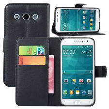 Card wallet Leather stand case for Samsung SM-G5108Q Galaxy Core Max Duos TD-LTE