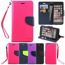 Magnetic Flip Leather Wallet Stand ID Card Case Cover Strap For Apple iPhone 6