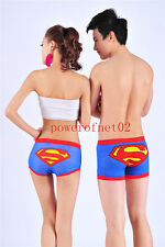 Lovers Underwear Superman Cartoon Briefs Couple's Cotton Shorts Pants Nightwear