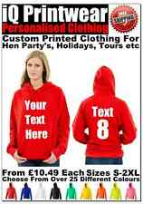 Hen Hoodies Hen Do Party Night Hoody Ladies Custom Printed Personalised