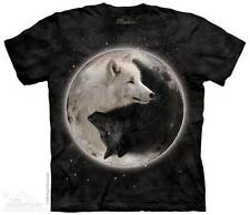 YIN YANG WOLVES ADULT T-SHIRT THE MOUNTAIN