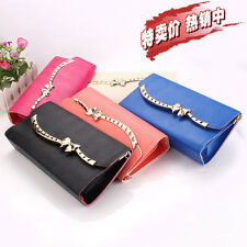 Fashion Woman Lady Faux Leather Bifold Card Holder Clutch Bag Wallet Purse