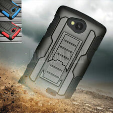 For LG Tribute LS660 Optimus F60 Rugged Armor Hybrid Hard Case Cover Holster