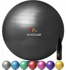 Wacces 55cm 65cm 75cm Exercise Ball & Air Pump for Yoga Fitness Pilates 8 Colors