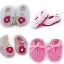Brand new in pack baby knitted crocheted booties 4 designs FREE wrapping
