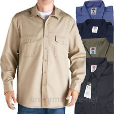 Dickies Work Shirts Mens LONG SLEEVE Button Front Twill Cotton SS48 Colors Shirt