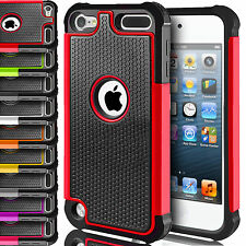 Dual Layer Silicone Case Shock Proof Hybrid Cover for Apple iPod Touch 5 5th Gen
