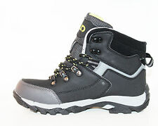 NEW Cheap Teen Youth Boys winter snow waterproof Tracking Boots Shoes Black