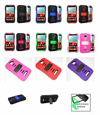 Rugged Case with BUILT in Screen Protector for Alcatel One Touch POP ICON A564C