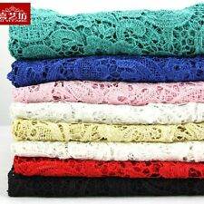 "1/2 meter by the yard Cotton Blend Lace Fabric Solid Color DIY 47"" width #18"