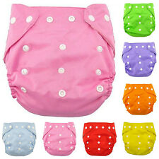 Cloth Baby Infant Leakproof Washable Adjustable Nappy Diaper Covers Reusable