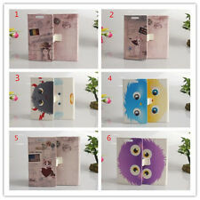 Magnetic Cartoon Flower slot wallet Leather stand cover skin case for Samsung #1