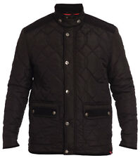 NEW BIG SIZE BLACK QUILTED JACKET COAT SMART CASUAL 3XL 4XL 5XL 6XL