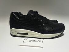 "Nike Air Max 1 Leather PA Black Black Sea Glass 705007 001 ""STINGRAY PACK"""