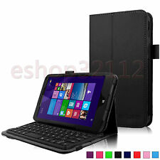 Folio PU Leather Bluetooth Keyboard Case For HP Stream 8 Windows 8.1 Tablet