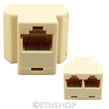 RJ45 Cat5e 3 Port 2 Way Switch Ethernet LAN Network Cable Y Adapter Coupler