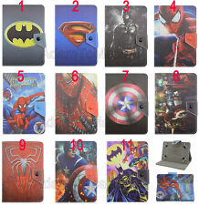 "Universal Fold Super Hero Kids Cartoon Leather Case Cover For 7"" 8"" 10.1"" Tablet"