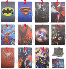 """Universal Fold Super Hero Kids Cartoon Leather Case Cover For 7"""" 8"""" 10.1"""" Tablet"""