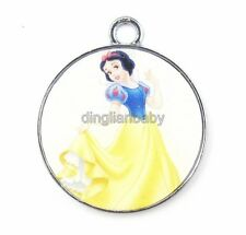 Lot Snow White Metal Charms Round Pendants Jewelry Making Party Gifts R47