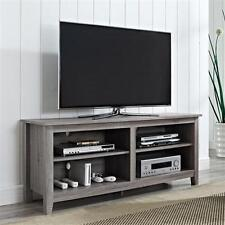 "Wood TV Stand for TVs up to 60"" Inch Entertainment Media Center Storage Console"