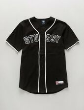 STUSSY Baseball Jersey Black Supreme AUTHENTIC Deadstock MSRP $95