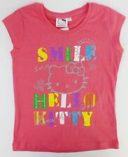 Girls Hello Kitty Pink T-Shirt with Smile Hello Kitty Design TOY-79105