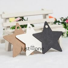 50x 100 150x Star Style Kraft Paper for Wedding Gift Bookmark Label Luggage Tags