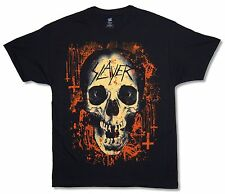 "SLAYER ""HAPPY HALLOWEEN"" BLACK T-SHIRT NEW MUSIC METAL BAND OFFICIAL ADULT"