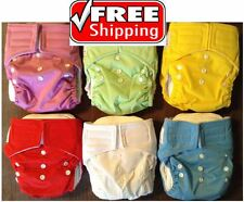 LOT choose Color!  NEW Cotton Cloth Diaper - Ships from USA!  Quality Made!