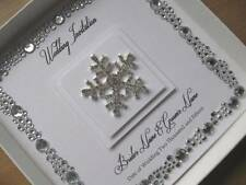 Luxury Winter Snowflake Wedding Invitations  - Gem Border - With/Without Box