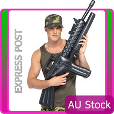 Licensed Inflatable Machine Gun Prop Gangster Army Military Costume Accessories