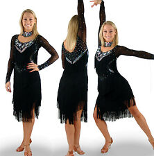 9339 (Multiple Sizes) Latin Rhythm Rumba Salsa Tassel Fringe Dance Costume Dress
