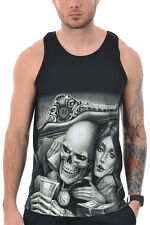 OG Abel Men's In Love With Game Tank Top Black  Skull player ink tattoo art Stre
