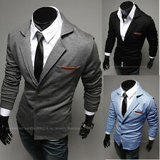 Mens Casual Dress Slim Fit two button Suit Blazer Jackets Coats Sweater YJM5748