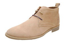 Front Roscoe Sand Beige Suede Desert Boots Lace Up UK 8 EUR 42 BNIB