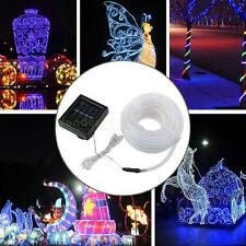 100LEDs 12M Solar  Rope Fairy Light Tube String Ourdoor Waterproof fr Christams