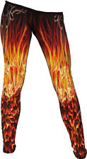 Spiral Direct FURNACE FLAMES ALL OVER COMFY FIT LEGGINGS Rock/Goth/ Metal/Fire