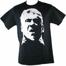 WWE Vince McMahon White Face Profile Mens Black T-shirt