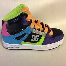 DC REBOUND HI KIDS SKATE SHOE MULTI COLOR