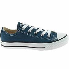 BOYS CONVERSE CANVAS ALL STAR TRAINERS SIZE 11 - 2 GIRLS KIDS OX NAVY 3J237