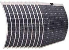 100W 200W 300W 500W 1000W mono Semi-Flexible solar panel RV boat portable PV