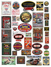 1:18 1:24th Garage Sign #2 Decals sheet  for Diecast & Model Car Dioramas